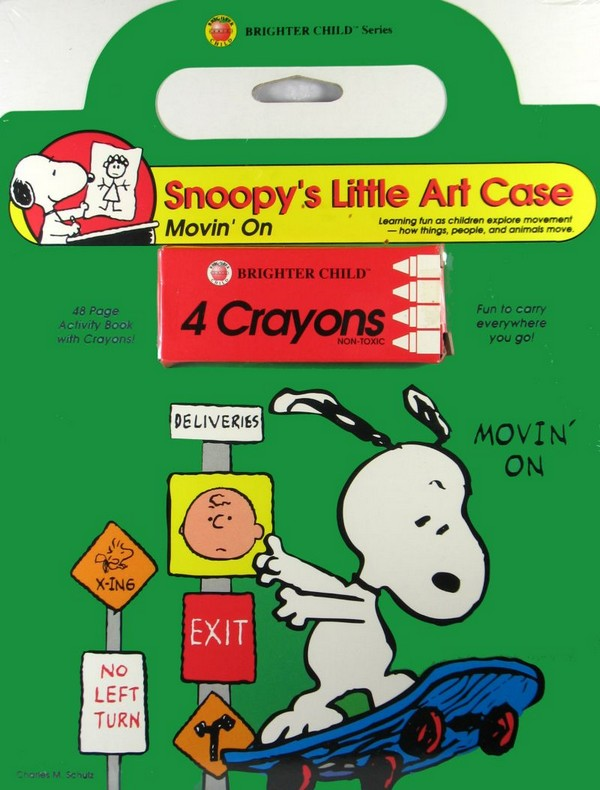 Snoopy's Little Art Case Book and Crayons Set