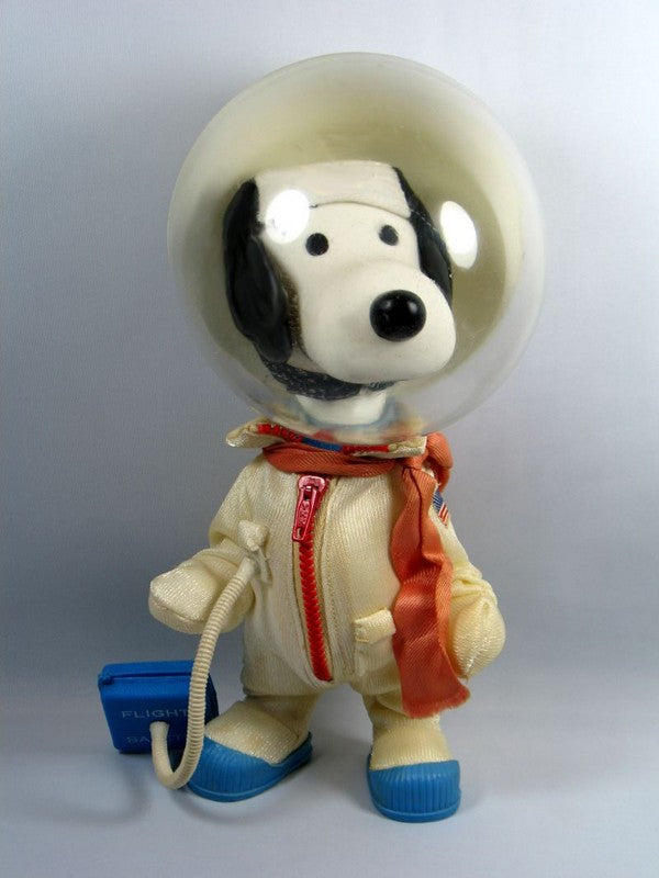 Snoopy Astronaut Rubber Doll - RARE!