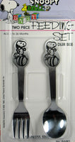 Snoopy Stainless Steel Spoon and Fork Set - On The Ball