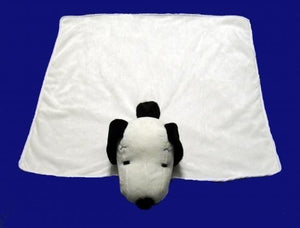 Lamboa Snoopy Head with Plush Blanket