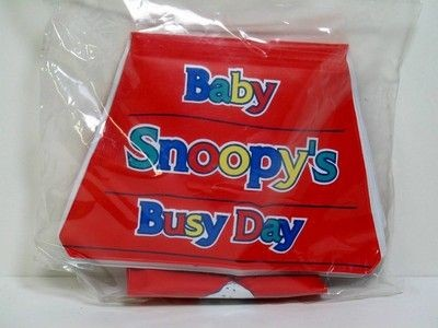 Snoopy Squeaker Book - Baby Snoopy's Busy Day