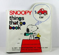 Snoopy Squeaker Book - Things That Go