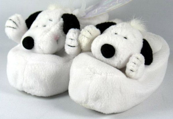 Snoopy Plush Baby Booties