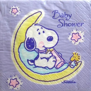 Baby Snoopy Baby Shower Dinner Napkins