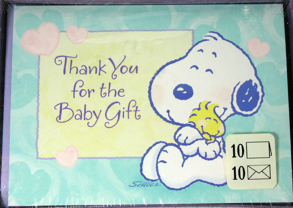 Baby Snoopy Thank You Cards