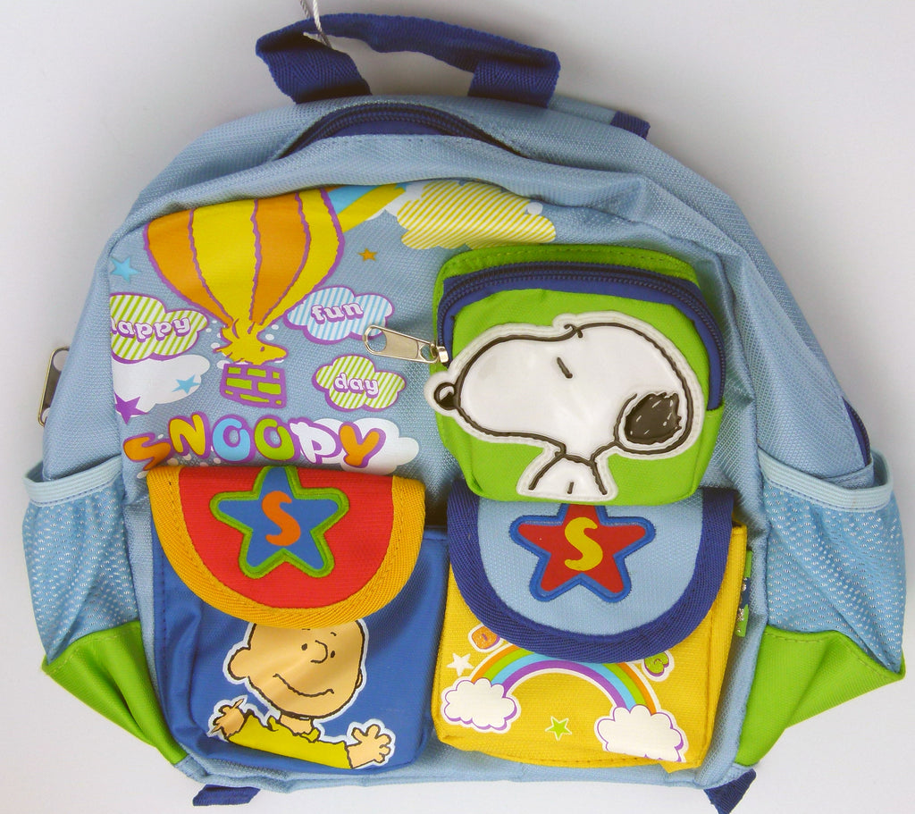 Kids Small Snoopy Backpack -  Happy Fun Day