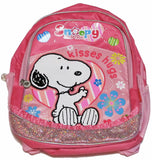 Snoopy Backpack With Sequins and Glitter Accents - Hugs and Kisses