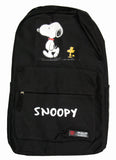 Snoopy and Woodstock Full-Size Nylon Canvas Backpack - Black