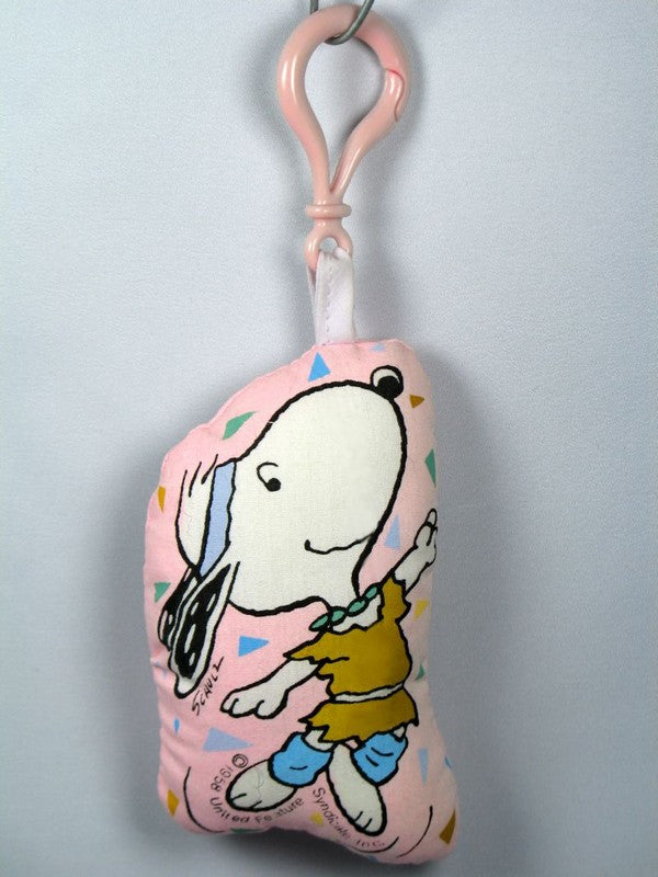 Snoopy Dancer Pillow Key Chain / Backpack Clip