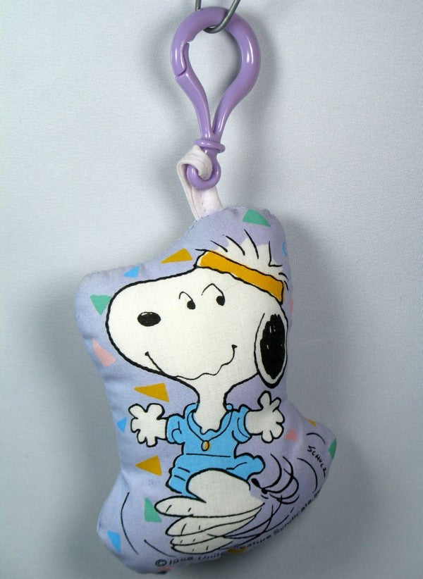 Snoopy Aerobics Pillow Key Chain / Backpack Clip