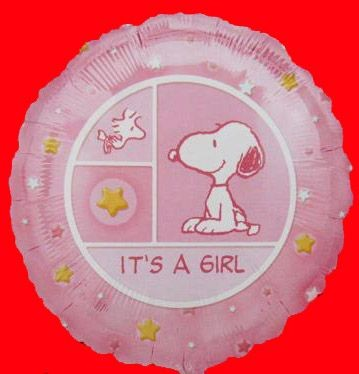 Baby Girl Snoopy Balloon