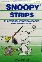 Snoopy Sports Strips Band-Aids - Tennis