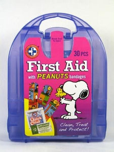 "Peanuts Gang 30-Piece First-Aid Kit with ""Band-Aids"" Bandages"