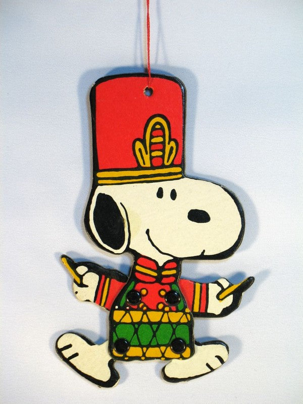 Peanuts Mascot Doll Ornament:  Snoopy Band Leader