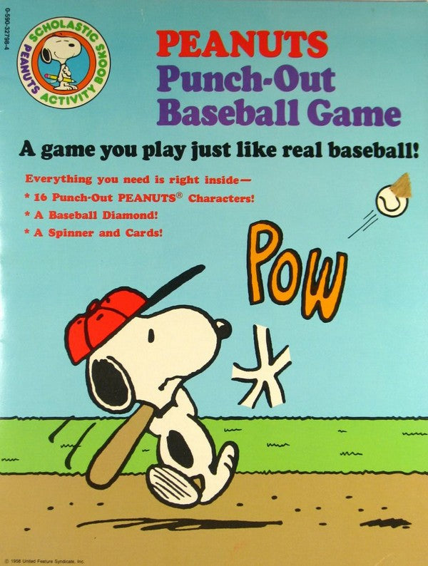Peanuts Punch-Out Baseball Game Activity Book