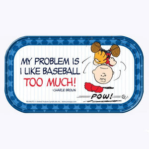 Charlie Brown Magnetic Tin Tray Or Sign - Baseball