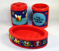 Peanuts Gang 3-Piece PVC Bathroom Set