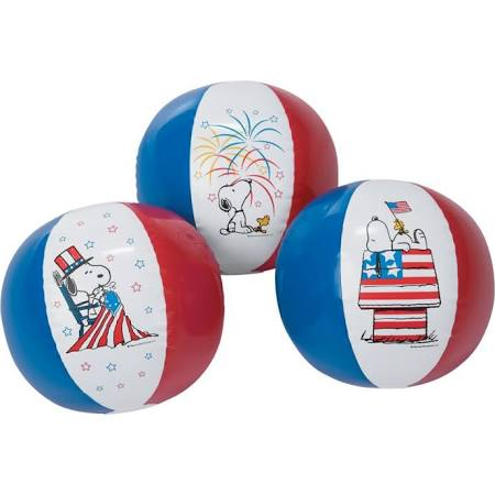 Snoopy Patriotic Beach Ball