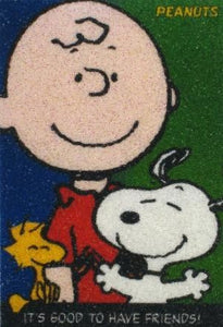Micro-Beaded Magnet - Charlie Brown and Friends