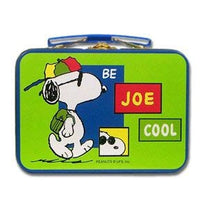 Joe Cool tin lunch box