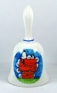 1977 Snoopy's Decorated Doghouse Porcelain Bell