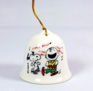 Charlie Brown and Snoopy Mini Bell Ornament
