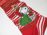 Snoopy Santa Christmas Crew-Length Socks With Glitter Accents