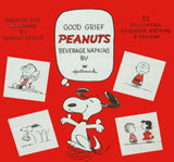 Peanuts Vintage Beverage Napkins In Box - RARE!