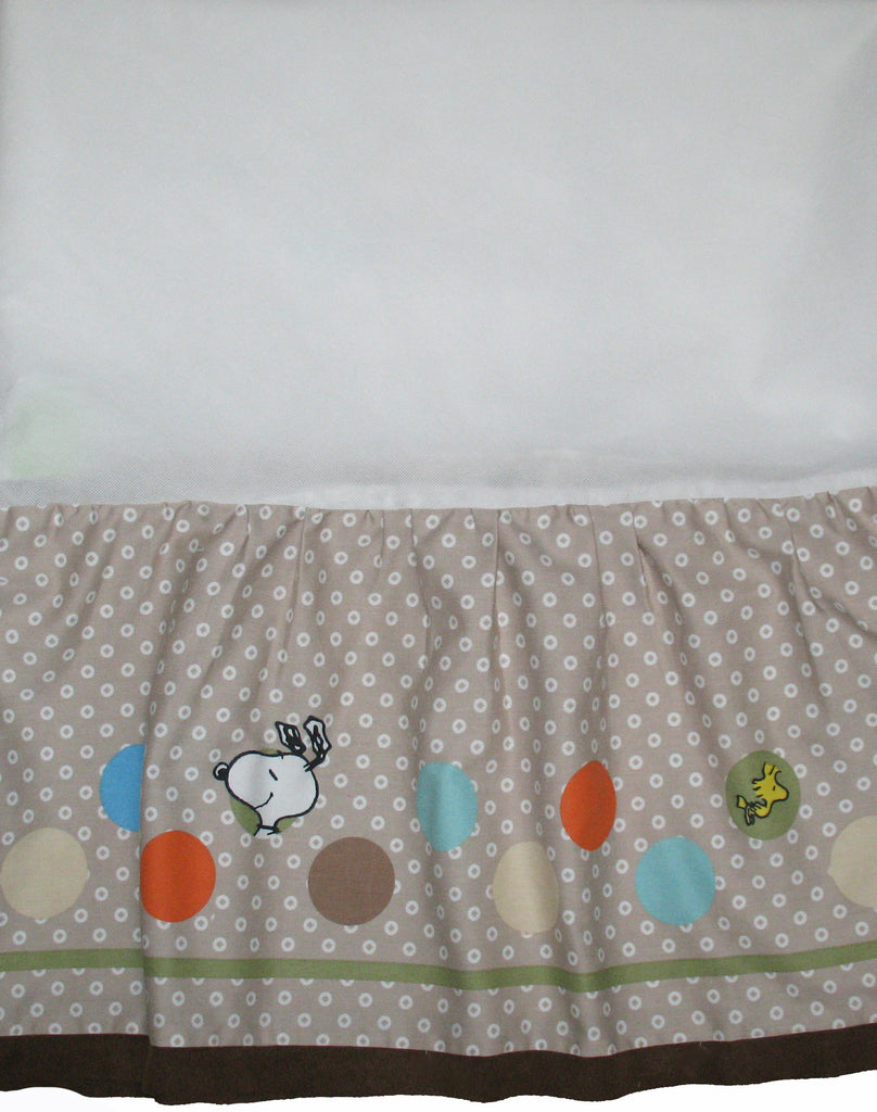 Lambs & Ivy Snoopy and Woodstock BFF Crib Skirt / Dust Ruffle