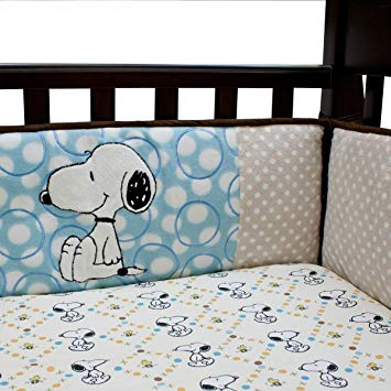 Lambs & Ivy Snoopy and Woodstock BFF Crib Sheet