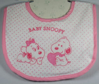 Baby Snoopy Baby Bib - Light Pink