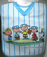 Peanuts Gang Baseball-Style Snap Neck Feeder Bib