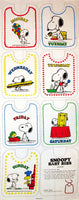 Snoopy Baby Bib Pattern Set - 7 Days of the Week