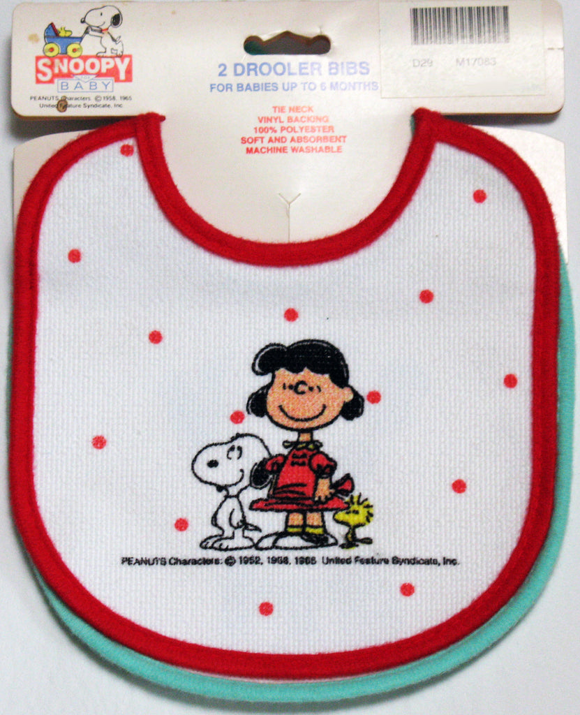 Lucy and Snoopy Drooler Bib Set