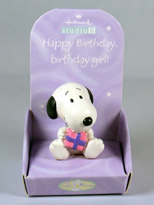 Little Snoopy Birthday Figurine - Birthday Girl