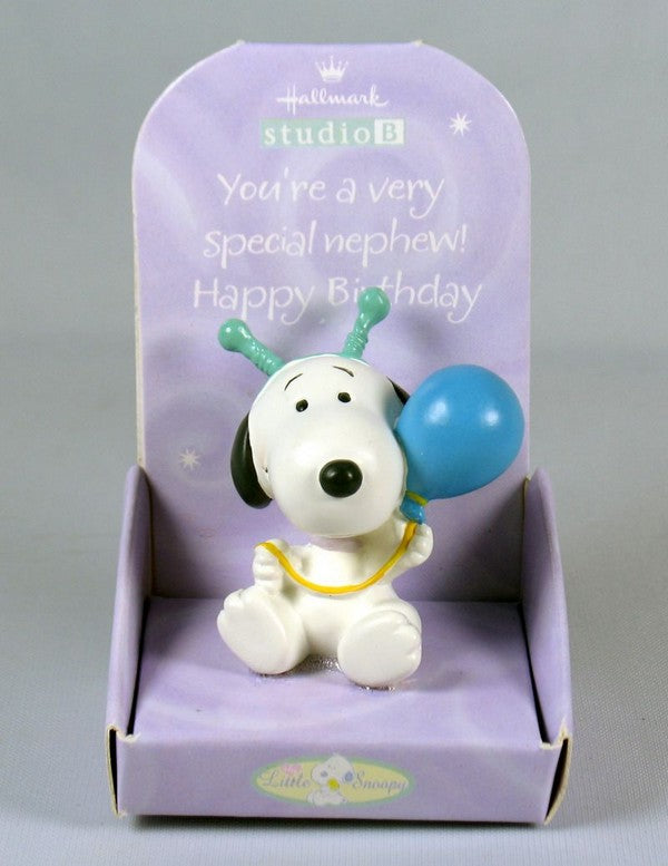 Little Snoopy Birthday Figurine - Nephew
