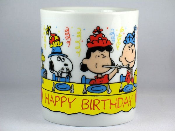 Peanuts Gang Vintage Birthday Mug (Includes Spike and Belle)