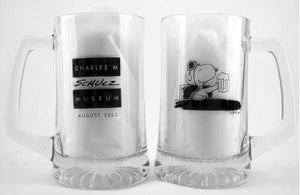 2002 Schulz Museum Flying Ace Glass Mug - Black Images