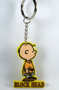 CHARLIE BROWN BLOCK HEAD vinyl key chain