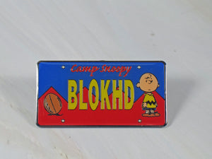 Camp Snoopy Blockhead Metal Magnet
