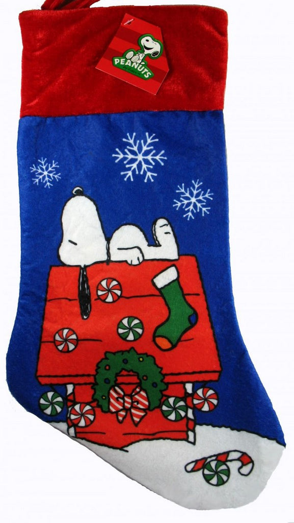 SNOOPY'S DECORATED DOGHOUSE CHRISTMAS STOCKING