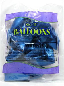 Blue Helium Balloons (Matches Dancing Snoopy Party Ware)