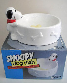 Snoopy Milk Bone Ceramic Dog Dish / Snack Bowl