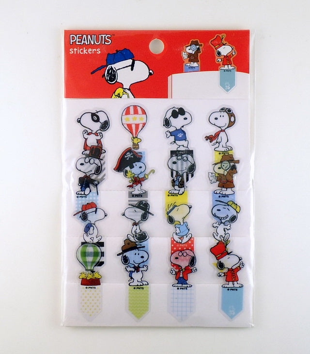 Peanuts Removable Book Mark Stickers - Snoopy Personas