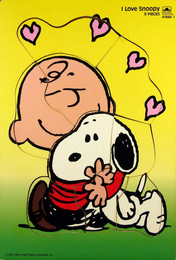 Charlie Brown and Snoopy Wood Puzzle - I Love Snoopy