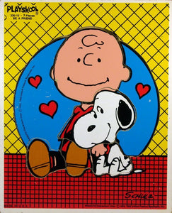 Charlie Brown and Snoopy Wood Puzzle - Be A Friend