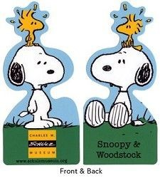 Charles Schulz Museum Snoopy Die-Cut Laminated Book Mark