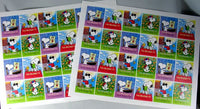 Peanuts Gang Book Plate Stickers - The #1 Fan!