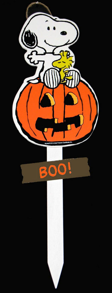 Snoopy Halloween Wood Yard Sign - BOO!