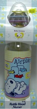 Baby Snoopy Nurser Bottle with Rattle Hood